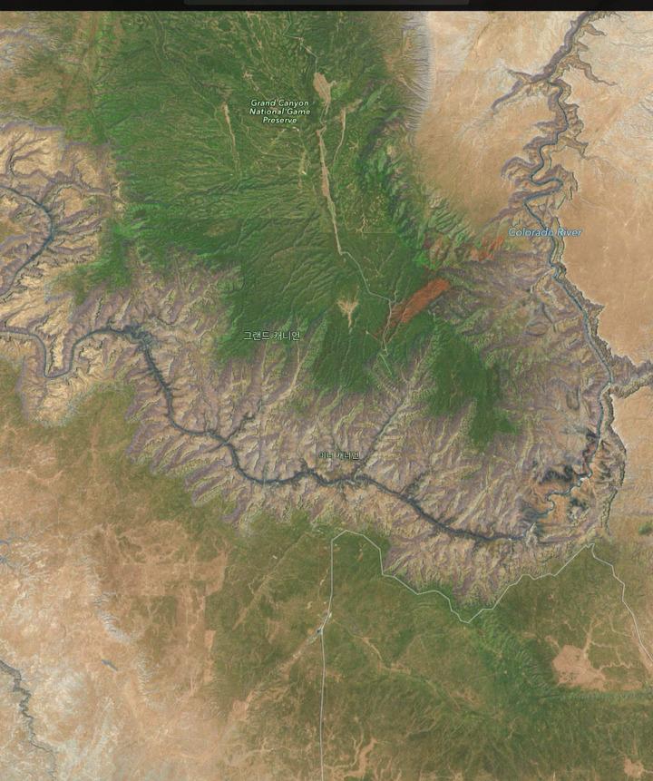 그랜드 캐니언 계곡이 만들어진 과정