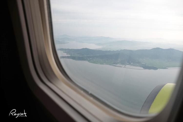 비행기에서 바라본 후쿠오카