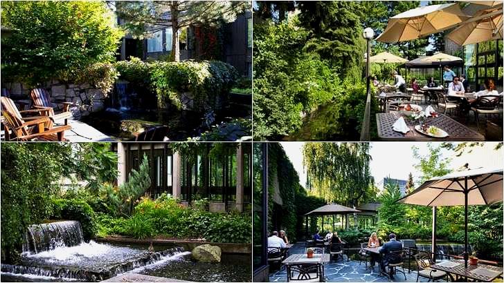 몬트리올 호텔 정원입니다