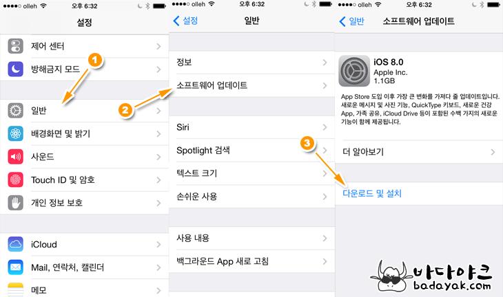 아이폰 iOS8 업데이트와 아이폰 키보드 변경 방법