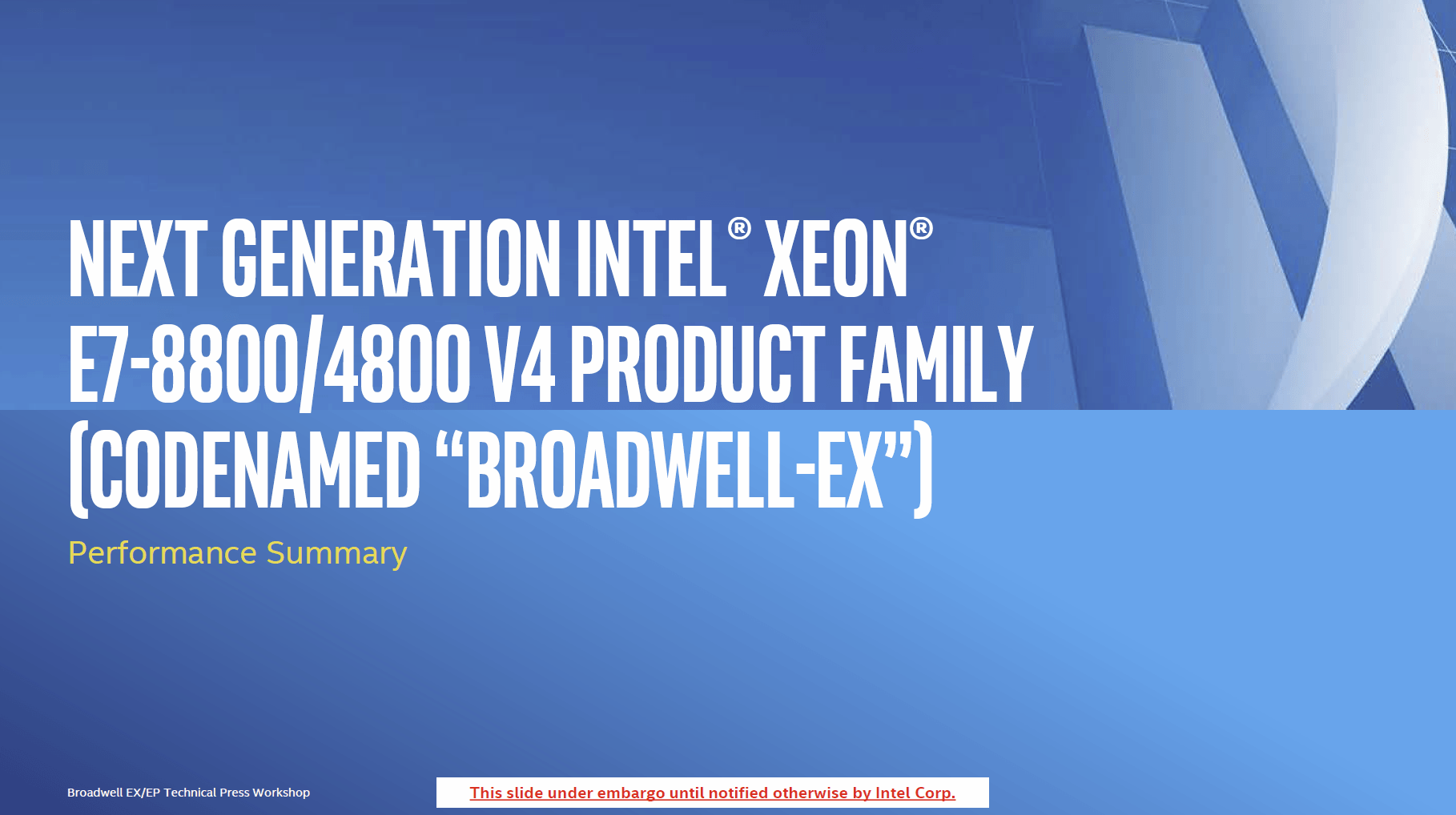 """하이엔드 서버 위한 24코어 제온 E7 V4, """"브로드웰-EX"""" 공개"""