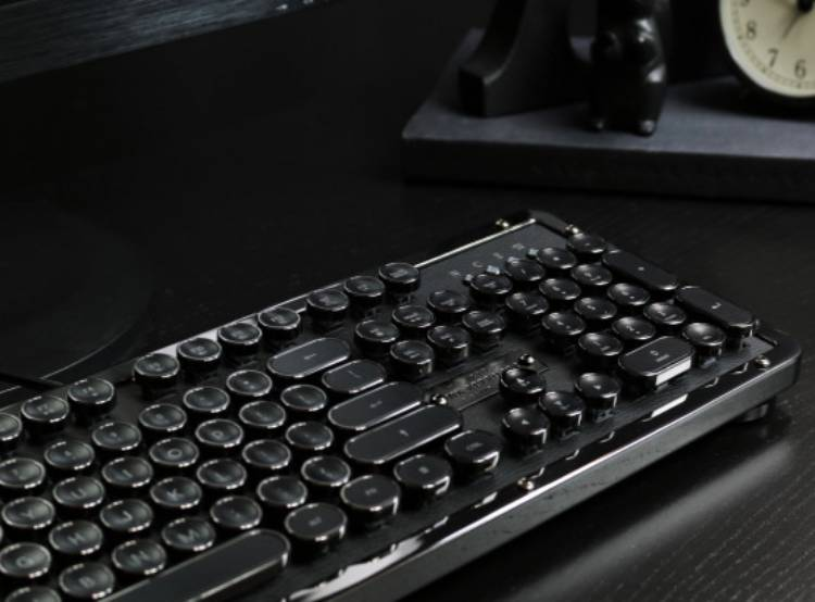 디자인, 키보드, 레트로, 기계식, 아지오, 클래식, azio, retro, classic, mechanical, keyboard