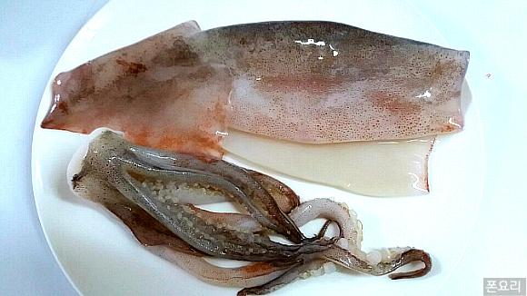 생물 오징어
