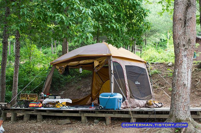 더캠퍼 돔스크린 옥화자연휴양림 캠핑장 리뷰 Camping