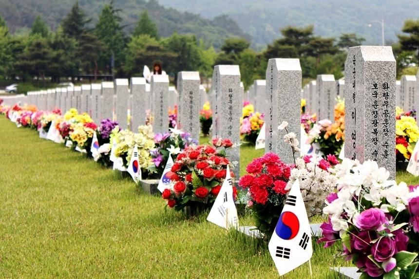 국립대전현충원 묘역