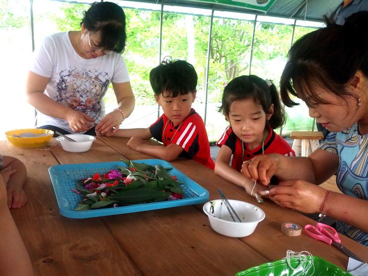 인천시 서구에서는 시천동 농촌경관단지 에 봉숭아
