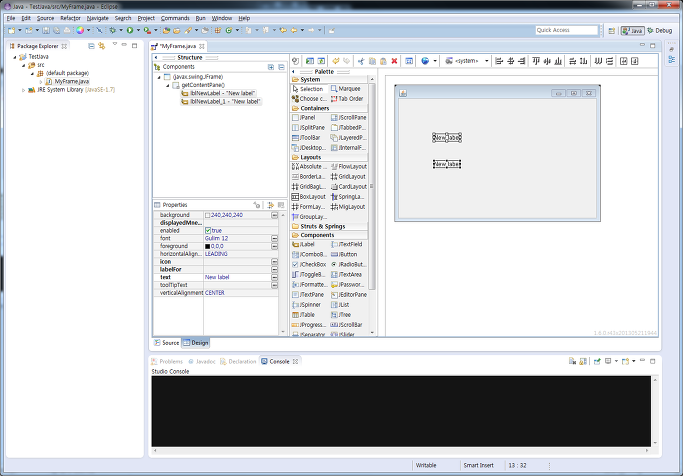 Java swing windowbuilder for Windowbuilder