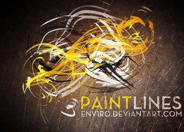 24 가지 페인트 라인(paint lines) 포토샵 브러쉬 - 24 Free Paint Lines Photoshop Brushes