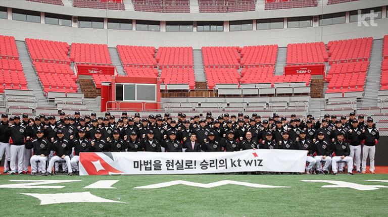 kt wiz 선수 및 감독, 코치 단체사진