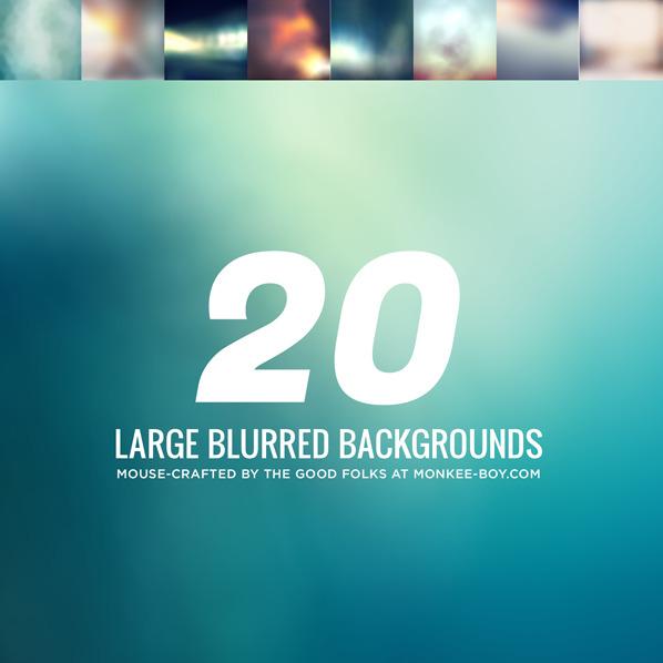 20 가지 무료 블러 백그라운드(배경) 이미지 - 20 Free Large Blurred Backgrounds