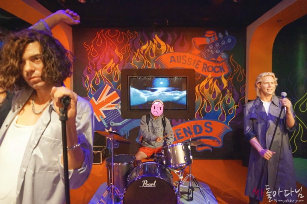시드니 마담 투소(Madame Tussauds) - 호주 락 밴드