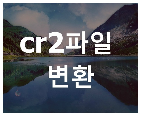 cr2파일 변환 입니다