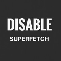Superfetch 서비스 중지