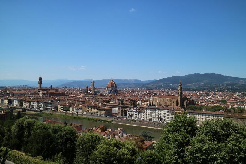 ▲사진 가운데에 피렌체 두오모 성당이 보인다.