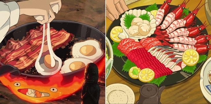 먹음직스러운 지브리 애니메이션 음식을 실제로 먹방하는 여자
