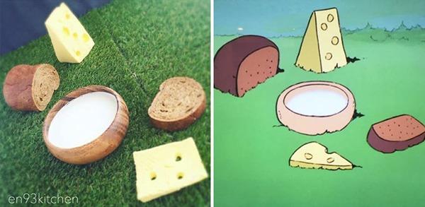 '알프스 소녀 하이디' 빵, 우유, 치즈