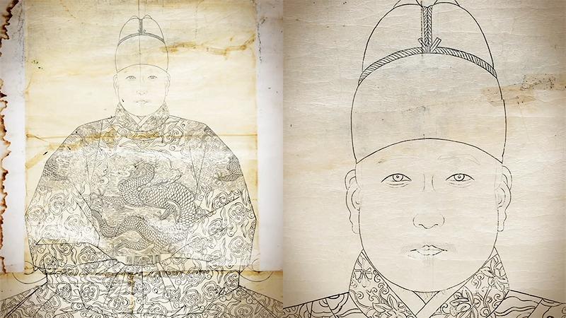 사진: 최근 발견된 세조의 어진. 김은호 화백이 그린 그림.