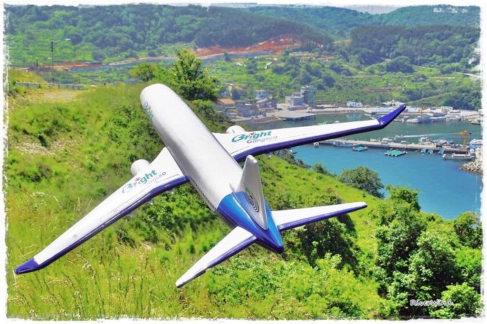 가덕도 외항포를 가며 담은 비행기 조형물.::OmnisLog