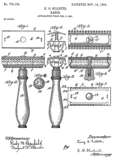 gillette-razor-patent-history