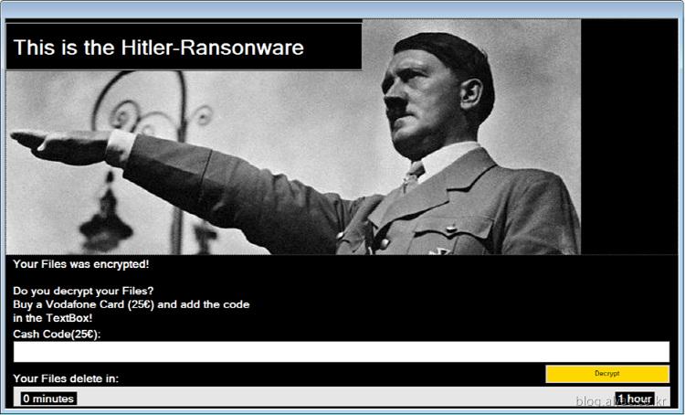 """[악성코드 분석리포트] """"히틀러"""" 랜섬웨어"""
